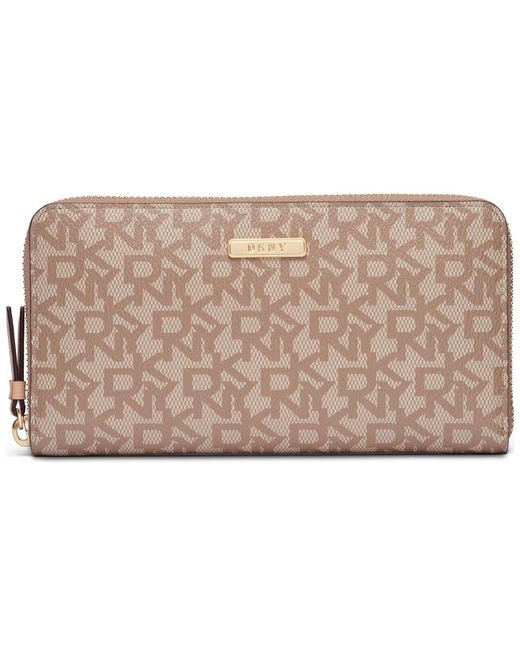 DKNY - Multicolor Bryant Large Zip-around Signature Wallet, Created For Macy's - Lyst