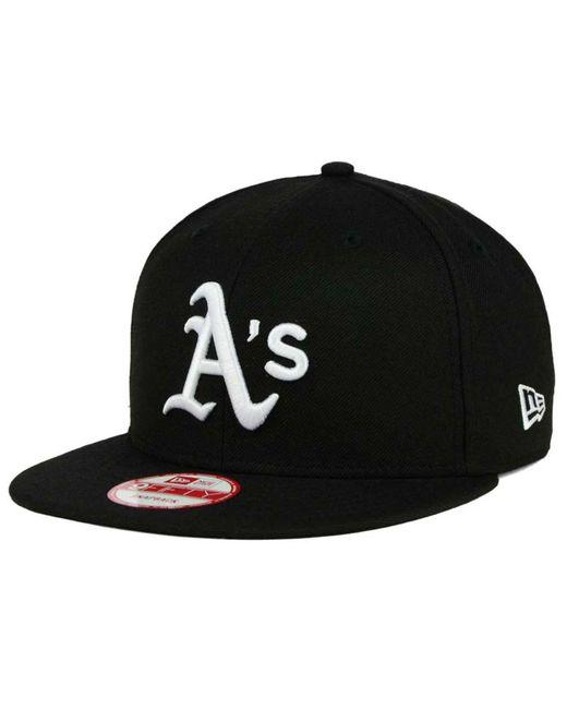 KTZ - Black Oakland Athletics B-dub 9fifty Snapback Cap for Men - Lyst