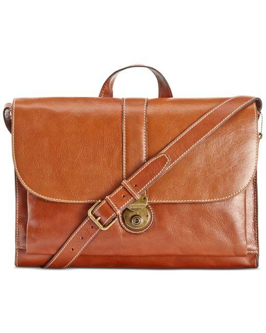 Patricia Nash   Brown Men's Heritage Leather Messenger Bag for Men   Lyst