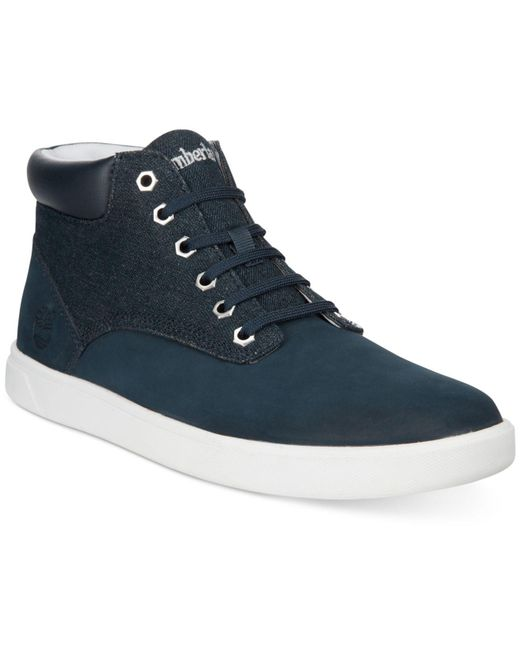 Timberland - Blue Groveton Hi-top Sneakers for Men - Lyst