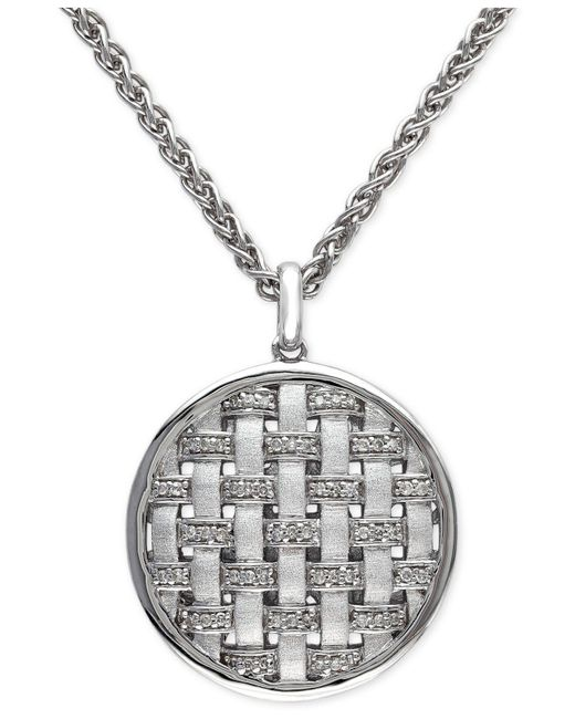 Effy Collection | Metallic Diamond Pendant Necklace (1/8 Ct. T.w.) In Sterling Silver | Lyst