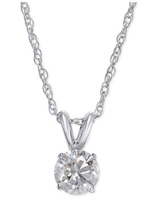 Macy's - Metallic Diamond Necklace In 14k White Gold (1/2 Ct. T.w.) - Lyst