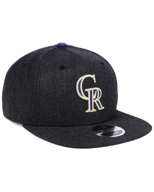 online store 79761 f9831 ... ireland ktz black colorado rockies heather hype 9fifty snapback cap for  men lyst 0f0c9 375c6