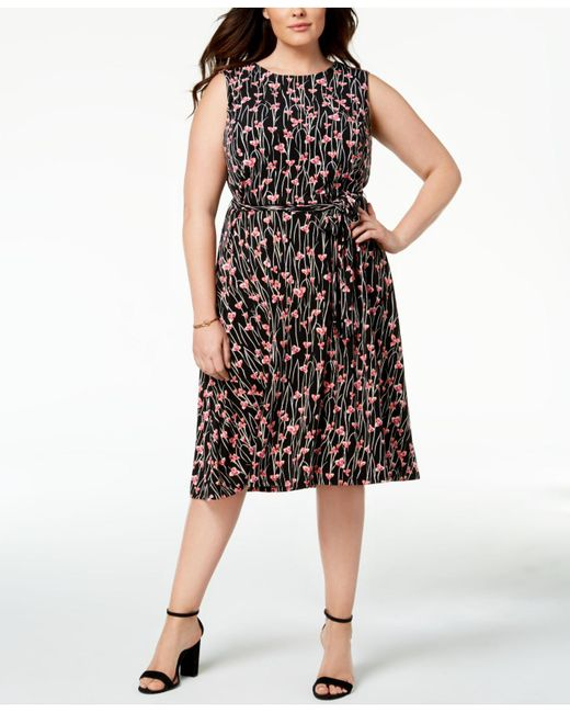 Lyst Charter Club Plus Size Floral Print Midi Dress Created For