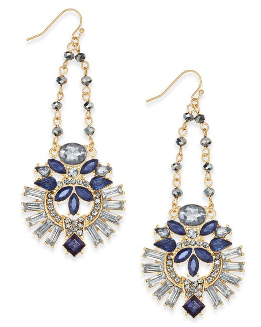 INC International Concepts | Metallic Gold-tone Multi-crystal Swing Chandelier Earrings | Lyst