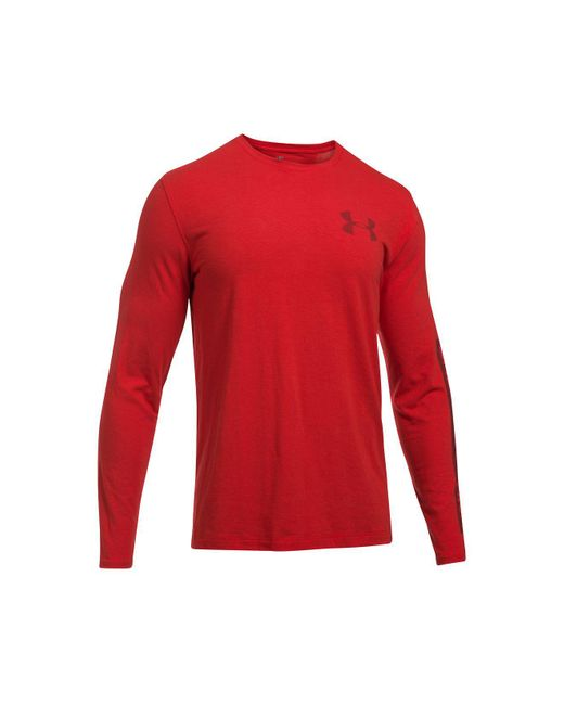 Under Armour | Red Men's Charged Cotton® Long-sleeve T-shirt for Men | Lyst