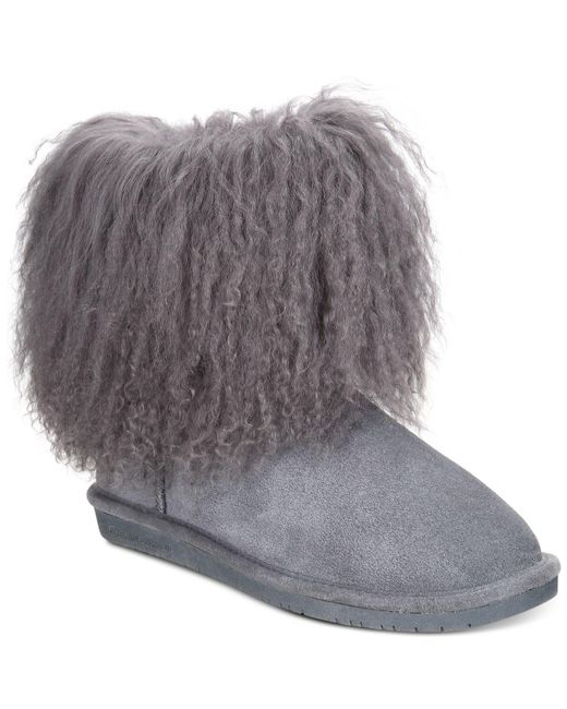 BEARPAW   Gray Boo Cold Weather Booties   Lyst