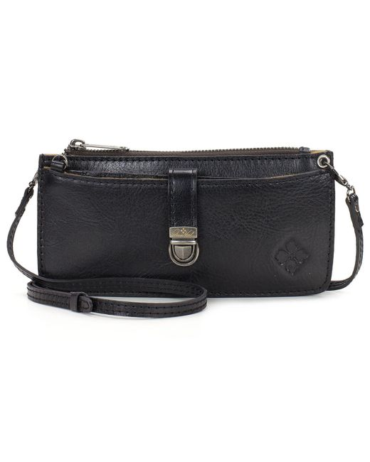 Patricia Nash | Black Heritage Zip-top Organizer Small Crossbody Wallet | Lyst