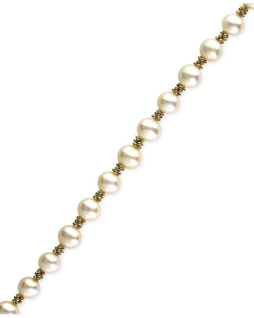 Effy Collection - Metallic Cultured Freshwater Pearl Bracelet In 14k Gold (5-1/2mm) - Lyst