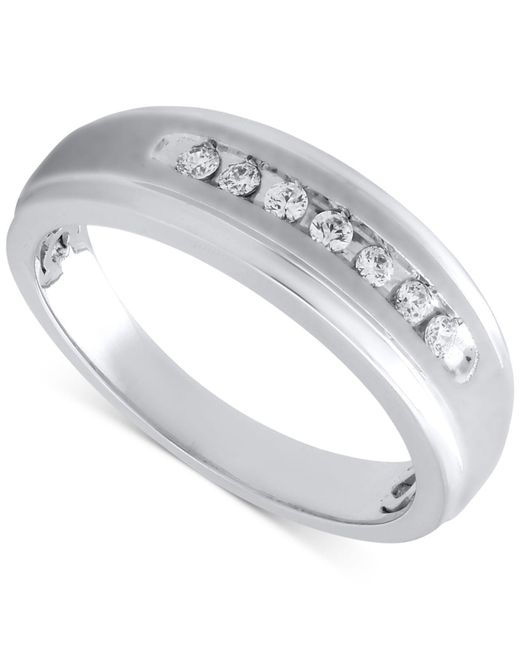 Beautiful Beginnings | Metallic Men's Diamond Band In Sterling Silver (1/5 Ct. T.w.) for Men | Lyst