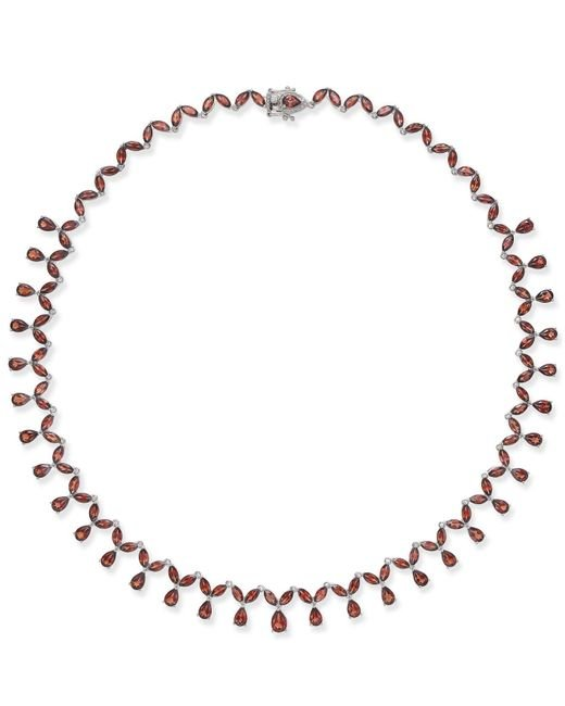 Macy's - Metallic Rhodolite Garnet Statement Necklace (40 Ct. T.w.) In Sterling Silver - Lyst