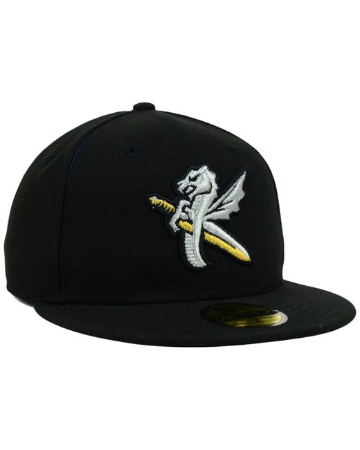 cba50cf313f ... KTZ - Black Charlotte Knights Milb 59fifty Cap for Men - Lyst ...