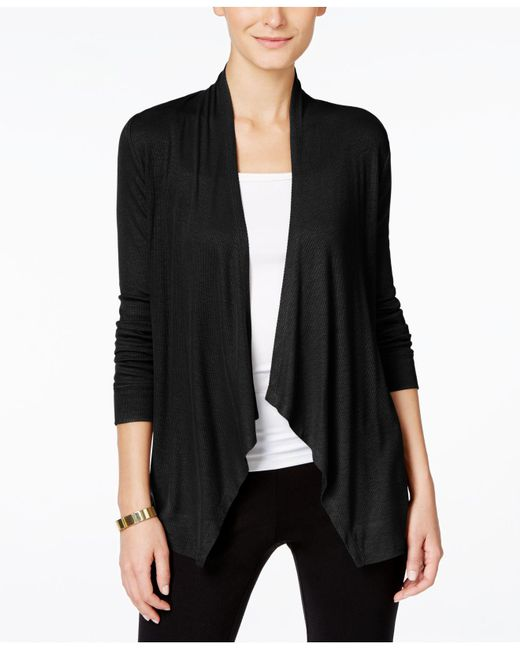 INC International Concepts - Black Long-sleeve Open-front Cardigan - Lyst