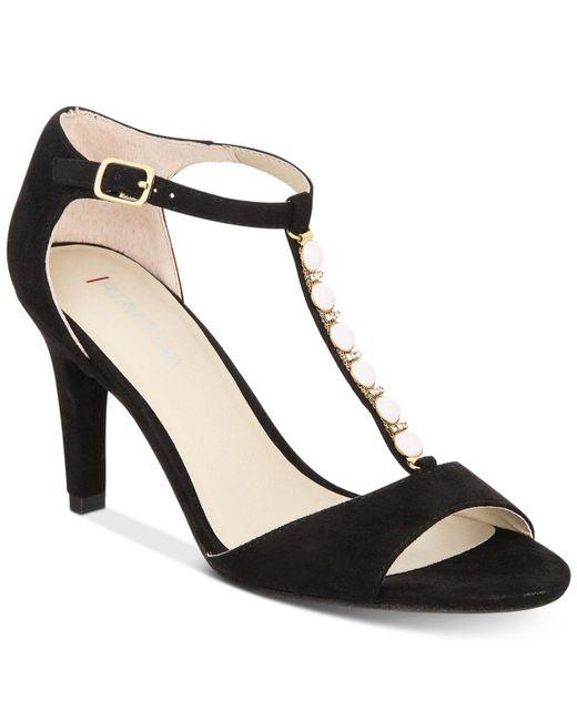 Rialto   Black Rida Embellished Dress Sandals   Lyst