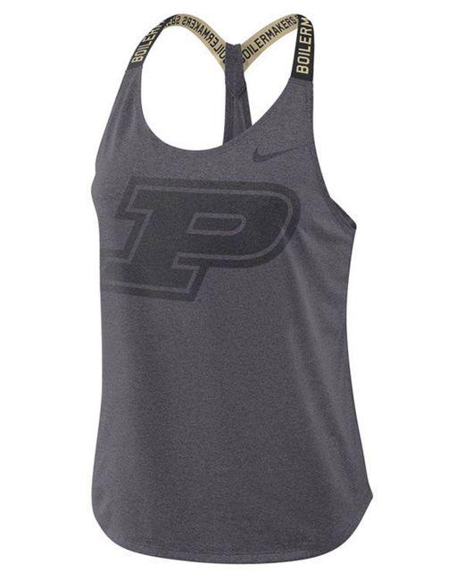Nike - Gray Purdue Boilermakers Elastika Tank - Lyst
