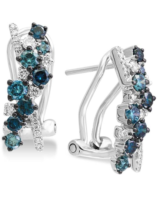 Effy Collection - Metallic Effy® Shades Of Bleu Diamond Drop Earrings (1 Ct. T.w.) In 14k White Gold - Lyst