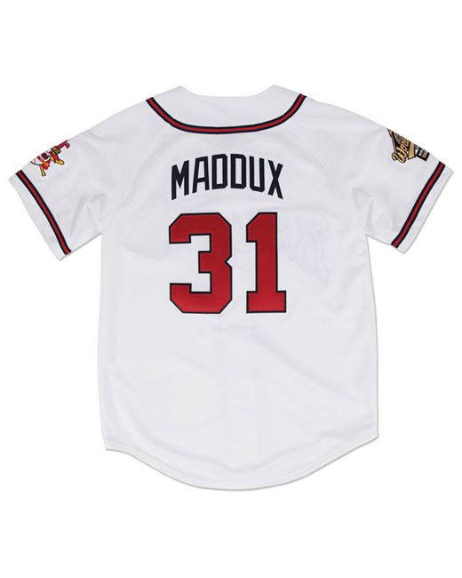 1546ceab2 ... Mitchell & Ness - White Greg Maddux Atlanta Braves Authentic  Cooperstown Jersey for Men ...