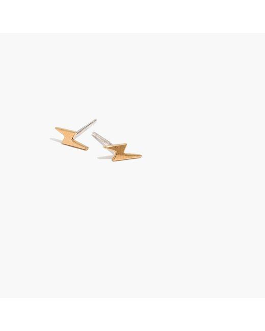 Madewell - Metallic Vermeil Lightning Stud Earrings - Lyst