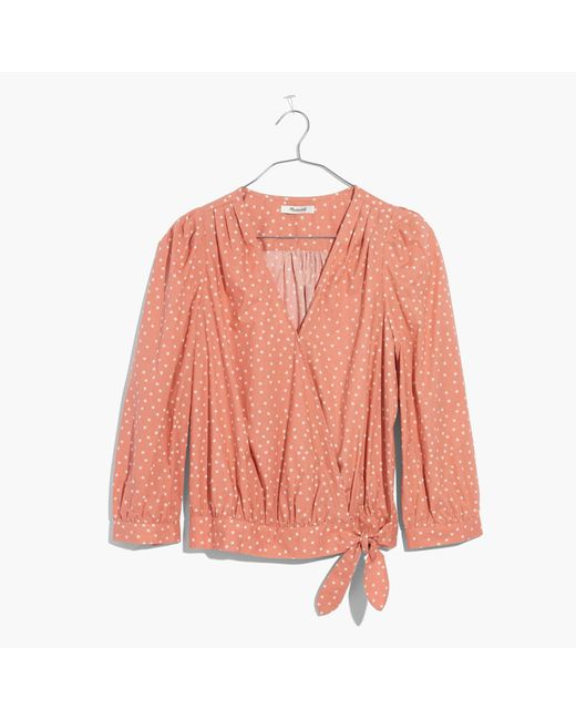 Madewell | Multicolor Wrap Shirt In Star Scatter | Lyst