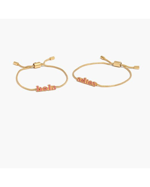 Madewell | Metallic Friendship Chain Bracelet Set | Lyst