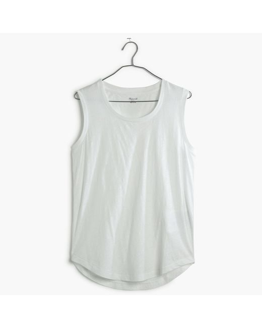 Madewell - White Whisper Cotton Crewneck Muscle Tank - Lyst