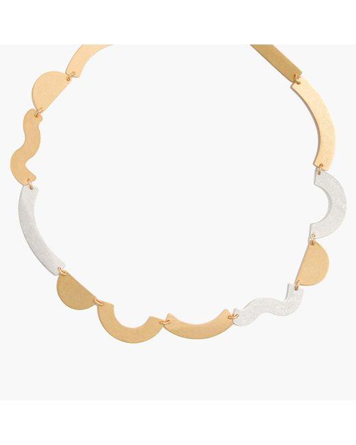 Madewell | Metallic Flatform Collar Necklace | Lyst
