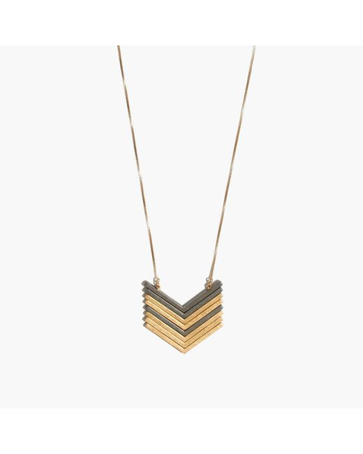 Madewell - Metallic Arrowstack Necklace - Lyst