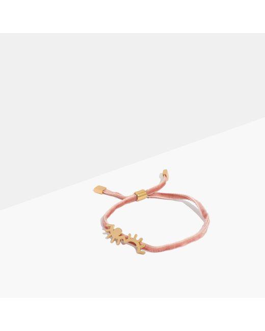 Madewell | Multicolor Velvet Charm Bracelet | Lyst