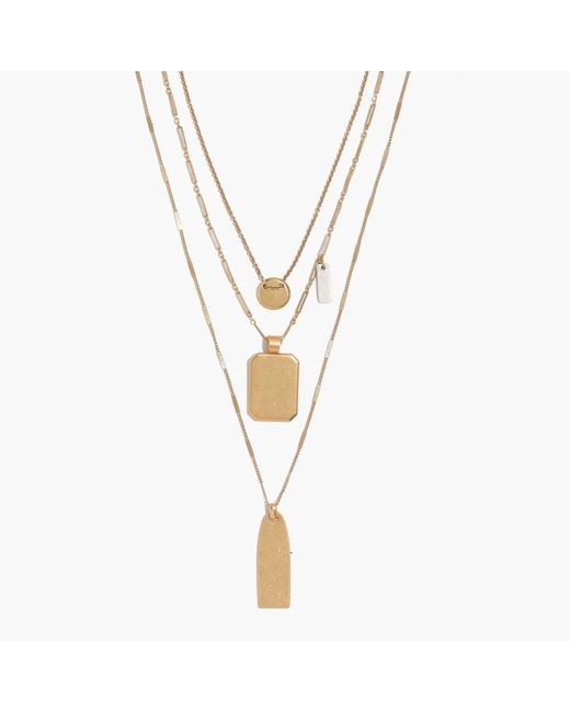Madewell | Metallic Treasure Pendant Necklace Set | Lyst