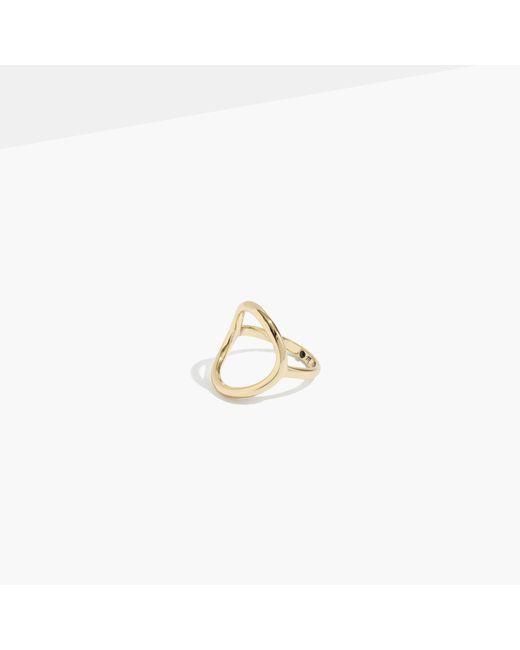 Madewell | Metallic Ceremony Circle Ring | Lyst