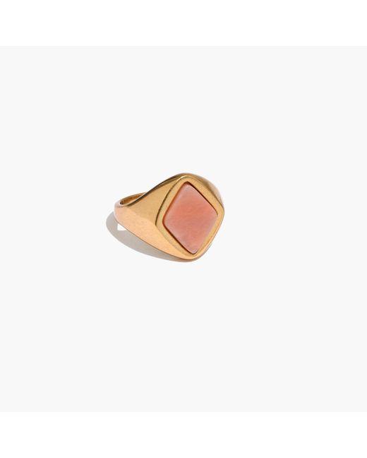 Madewell | Metallic Pink Jade Signet Ring | Lyst