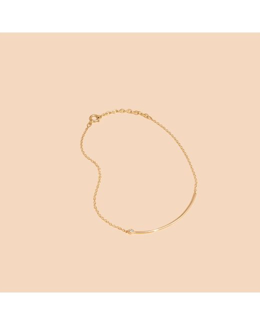 Madewell | Metallic X Still Housetm 14k Gold Erelé Diamond Bracelet | Lyst