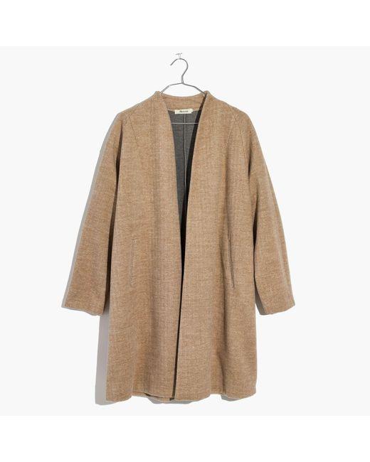 Madewell | Natural Stanza Herringbone Coat | Lyst