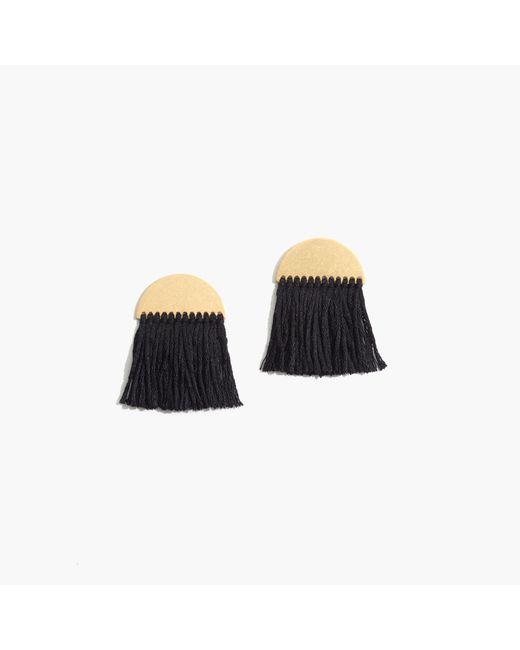 Madewell | Black Half-moon Fringe Earrings | Lyst