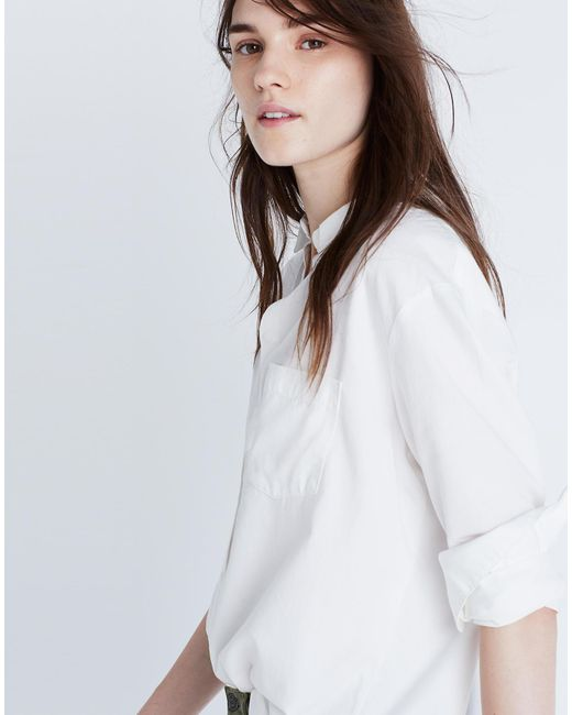 1ef42933 Madewell Drapey Oversized Boyshirt In Pure White in White - Lyst
