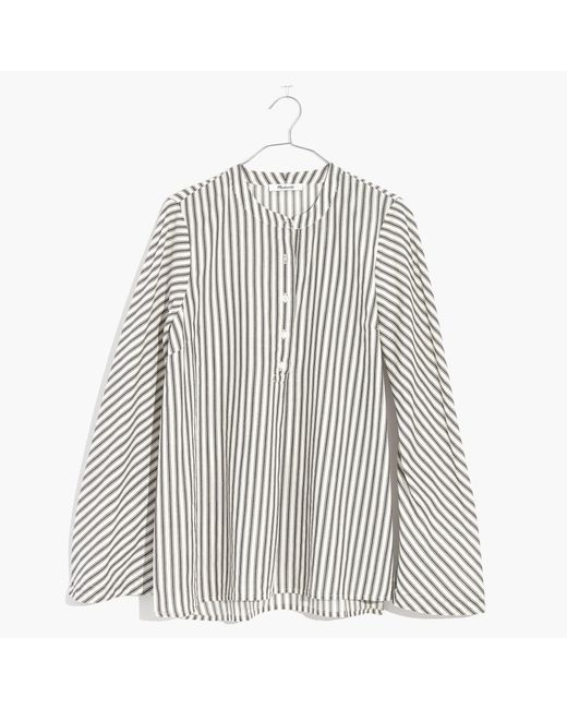 Madewell | White Striped Flare-sleeve Shirt | Lyst