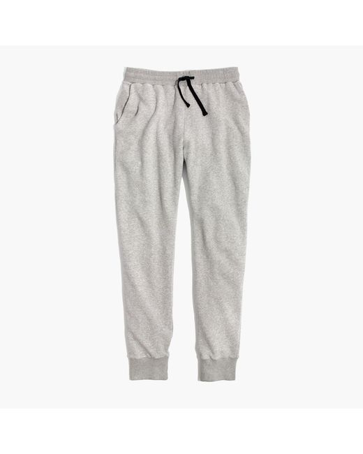 Madewell | Gray Terry Trouser Sweatpants | Lyst