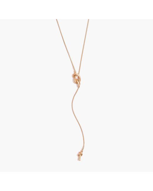 Madewell | Metallic Knotshine Necklace | Lyst