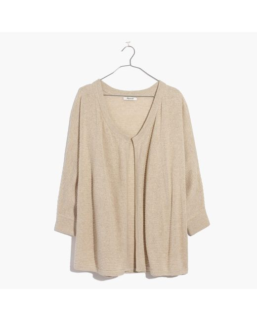 Madewell | Natural Seabank Cardigan Sweater | Lyst