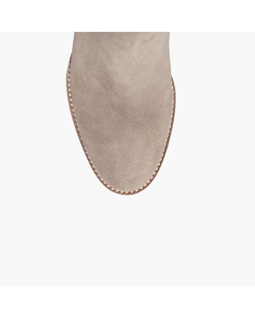 madewell the billie boot in suede in multicolor lyst
