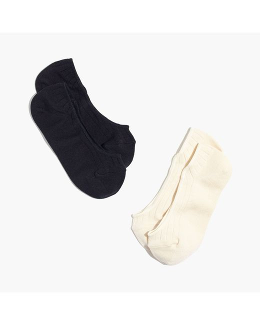 Madewell | Black Two-pack Ribbed Heather Low Profile Socks | Lyst