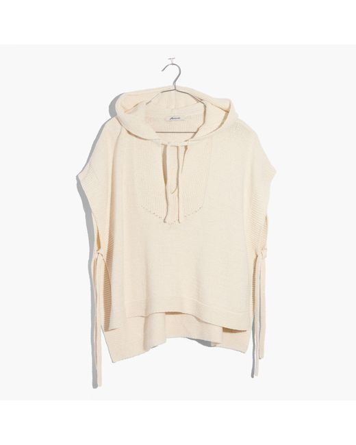 Madewell | Natural Poncho Hoodie Sweater | Lyst