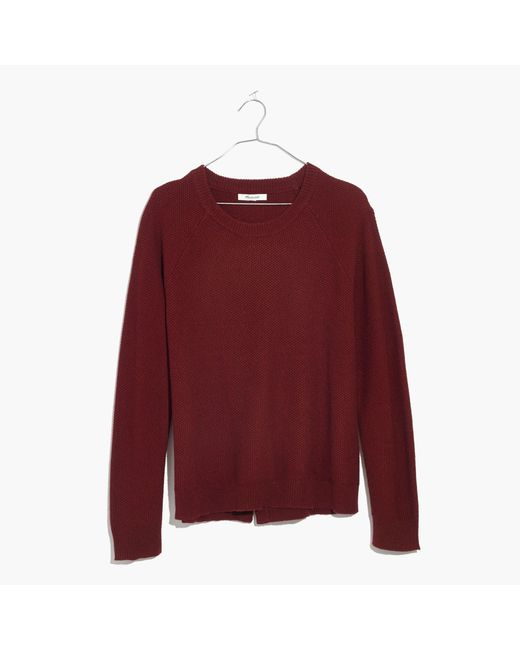 Madewell | Red Province Cross-back Pullover Sweater | Lyst