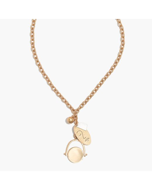 Madewell   Metallic Face It Charm Lariat Necklace   Lyst