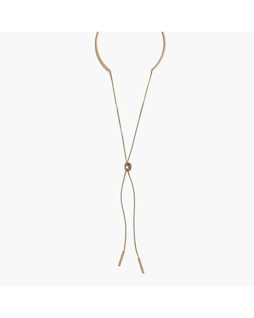 Madewell | Metallic Chain Choker Necklace | Lyst