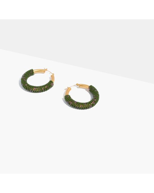 Madewell   Multicolor Bead-wrapped Hoop Earrings   Lyst