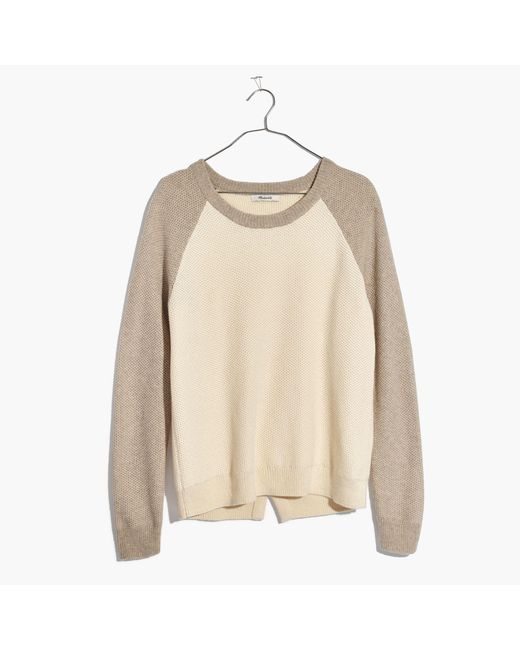 Madewell | Multicolor Province Cross-back Pullover Sweater In Colorblock | Lyst