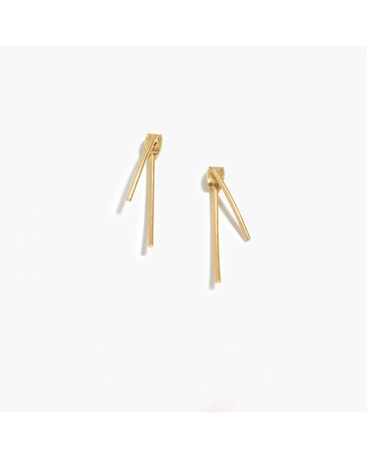 Madewell - Metallic Stembend Earrings - Lyst