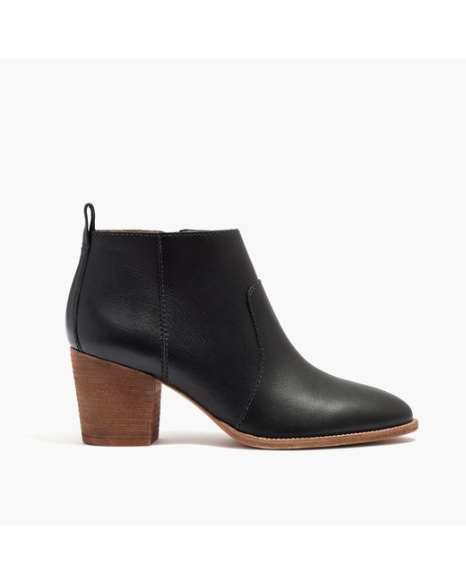 Madewell | Black The Brenner Boot In Leather | Lyst