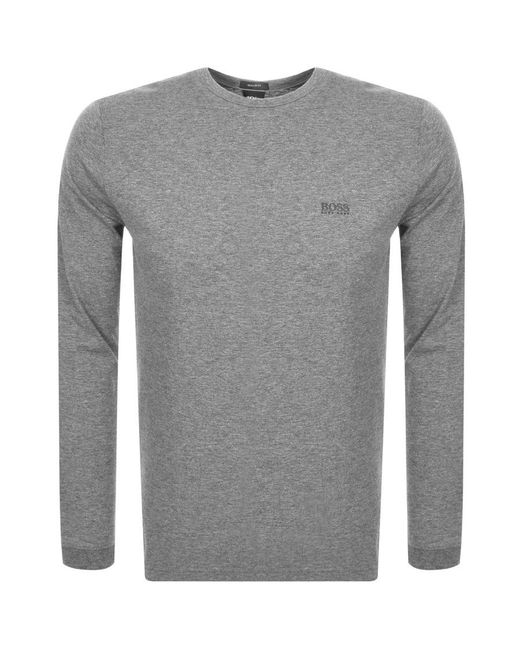 7c285fe49 BOSS Athleisure Long Sleeve Togn T Shirt Grey in Gray for Men - Lyst